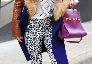 Leopard-print Slacks