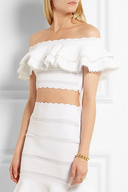 Alexander Mcqueen Off-the-shoulder Top - €897,00