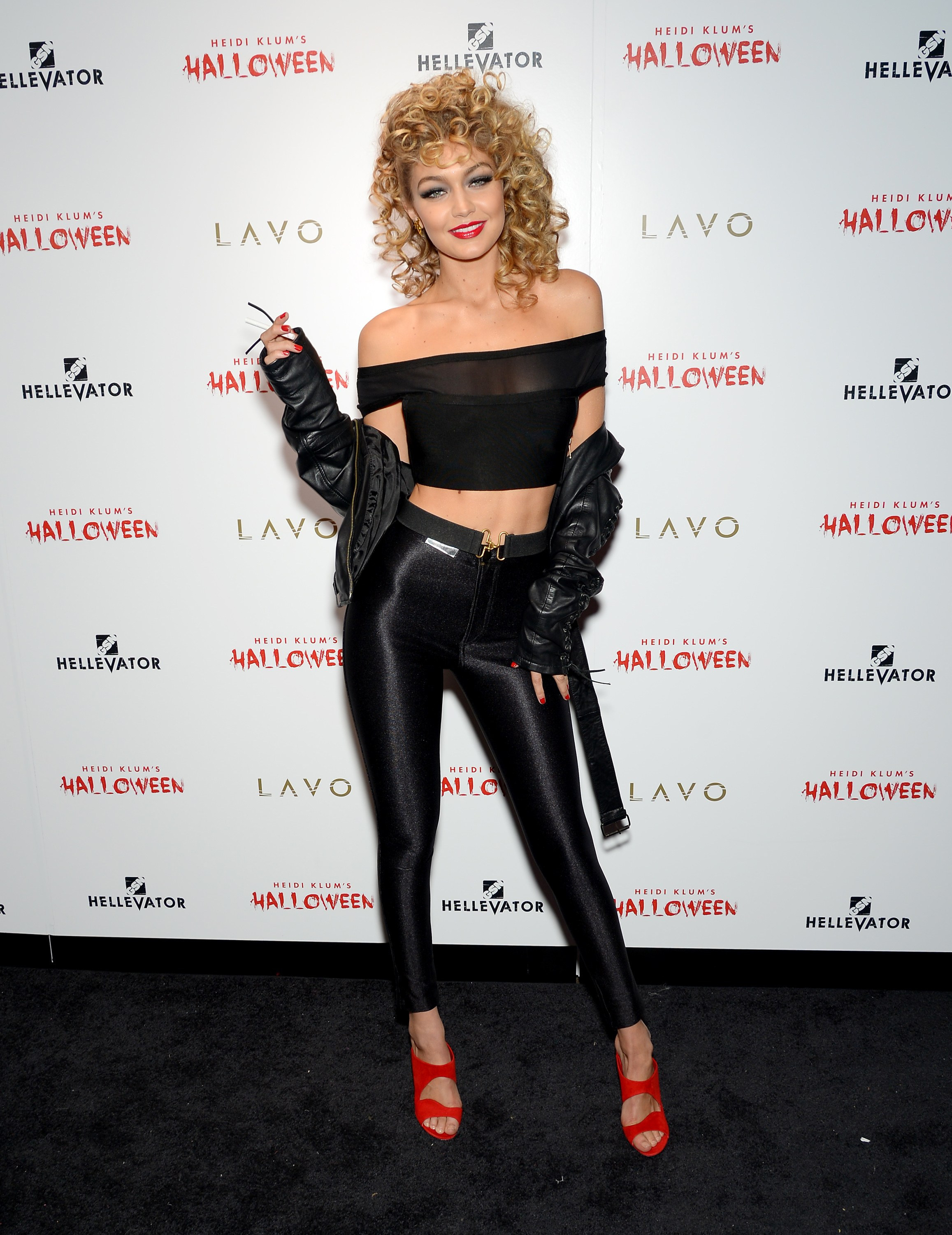 Gigi Hadid as Sandy in Grease. (Photo getty images)