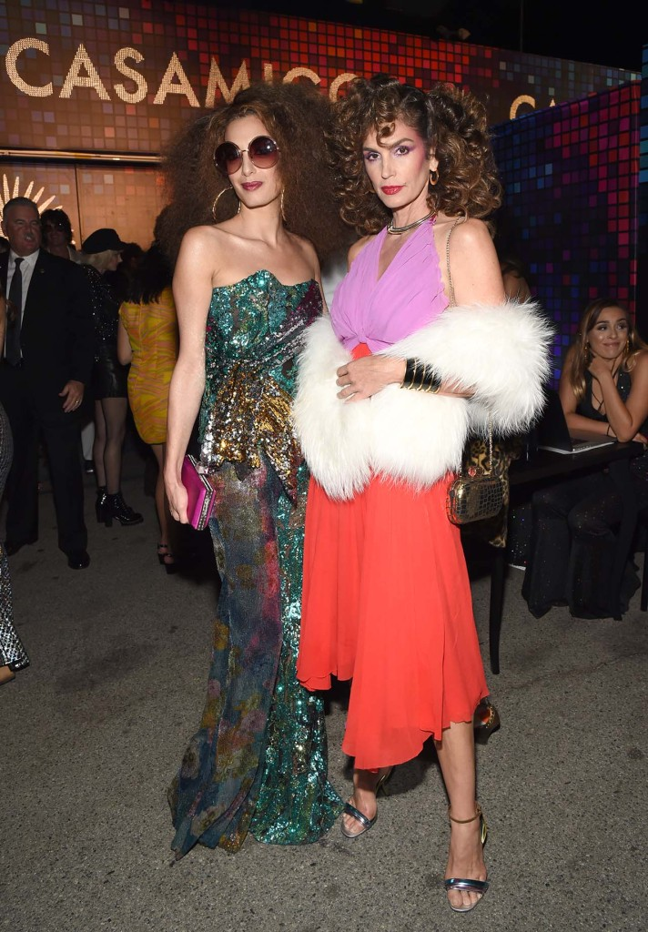 Amal Clooney and Cindy Crawford  The two friends nailed the disco queen queen vibe for Casamigos' annual bash (Photo by Michael Kovac/Getty Images for Casamigos Tequila)