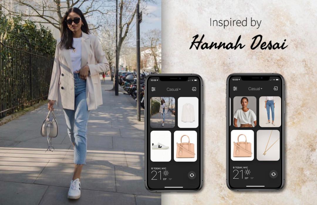 Get the look of Hannah Desai