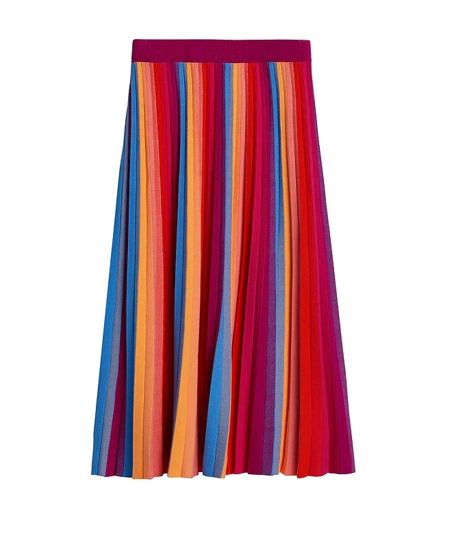 Banana Republic Pride 2020 Rainbow Knit Midi Skirt $119.00
