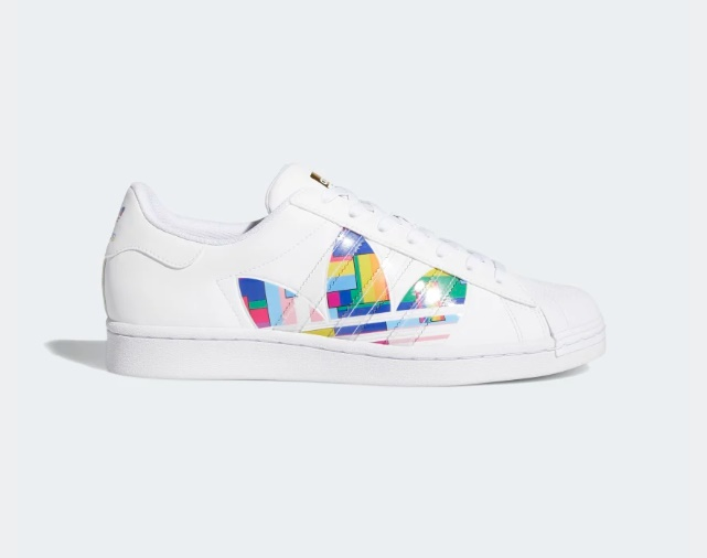 Adidas Superstar Pride Sneakers $80.00