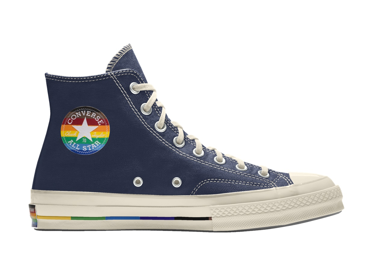 Converse Custom Pride Chuck 70 by you $105.00