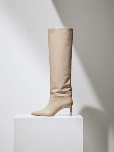 Massimo Dutti Cream Boots $299.00