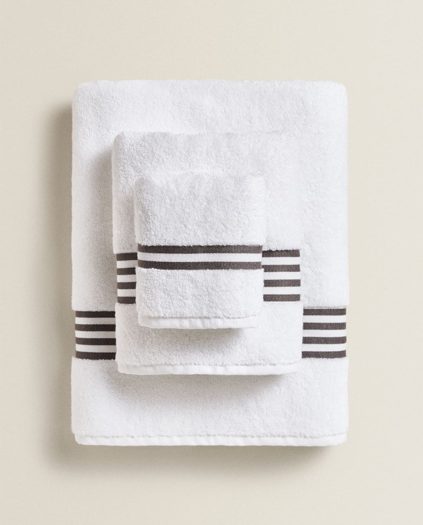 Zara home Striped BorderTowels $7.90 - $39.90