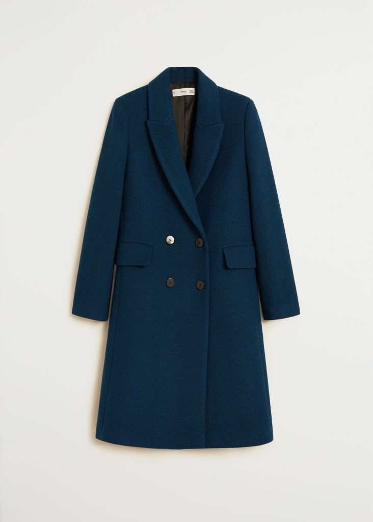 Mango Double-breasted wool coat $129.99