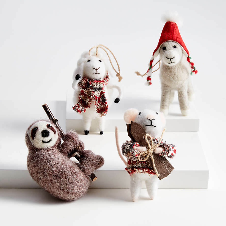 Crate & Barrel Boiled Wool Animal Ornaments  $7.95/each