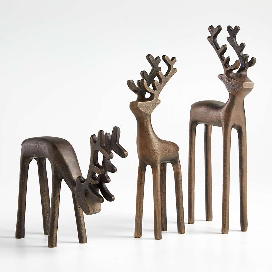 Crate & Barrel Brass Reindeer  $12.95 - $16.95