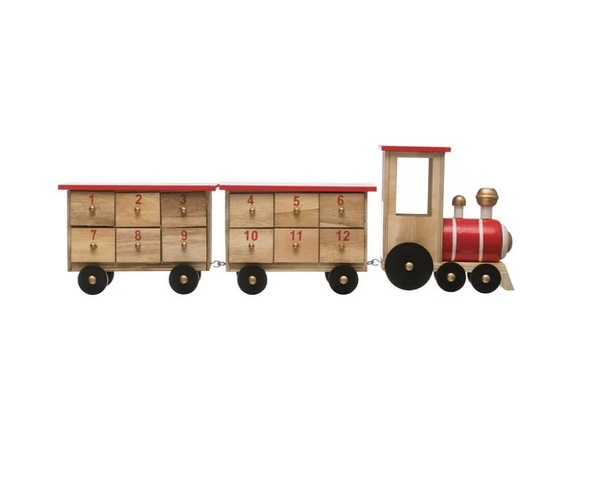 Wayfair 3 Piece Wood Train Advent Calendar with 24 Boxes Set  $70.99