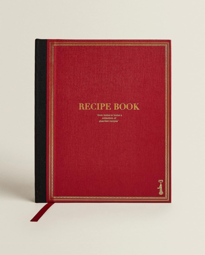 Zara Home Recipe Notebook $25.90