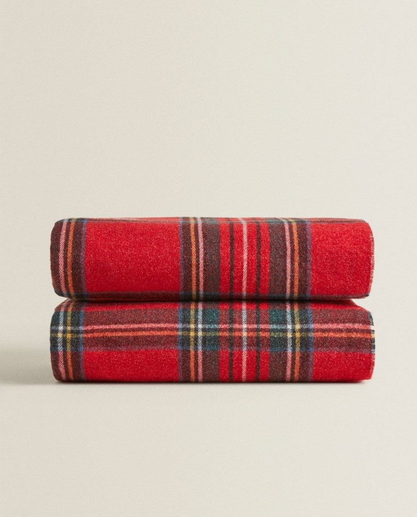 Zara Home Plaid Christmas Blanket $69.90