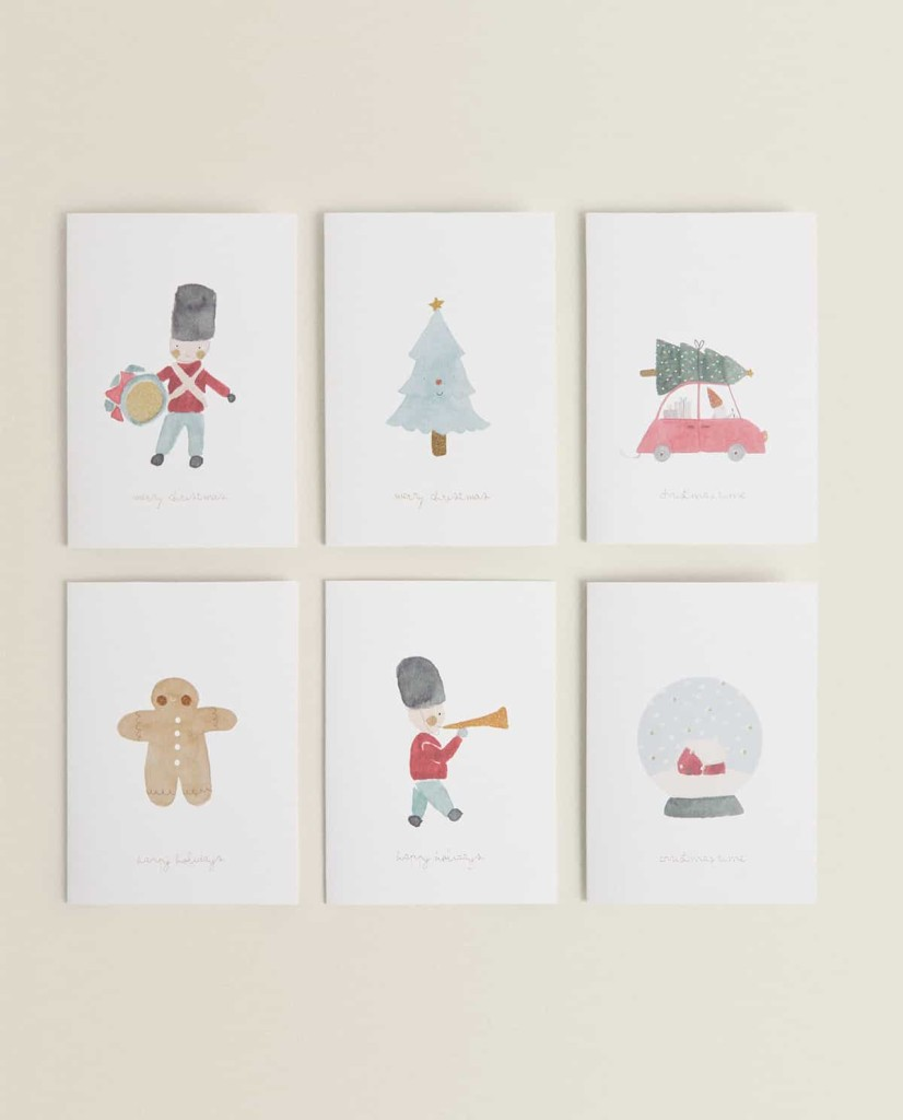 Zara Home Christmas Cards  $9.90