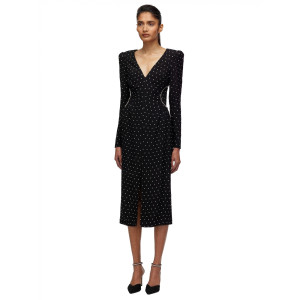 Self Portrait Diamante V Neck Midi Dress €455.00