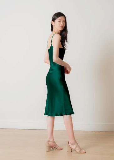 Silk Essence green dress $160.00
