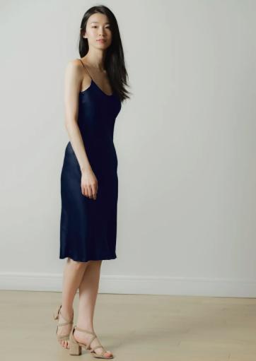 Silk Essence blue dress $160.00