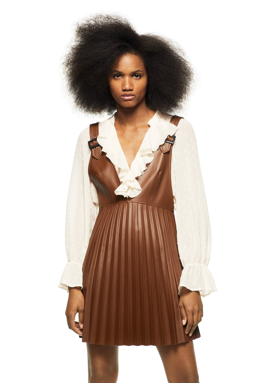 Zara Faux Leather Dress $49.90