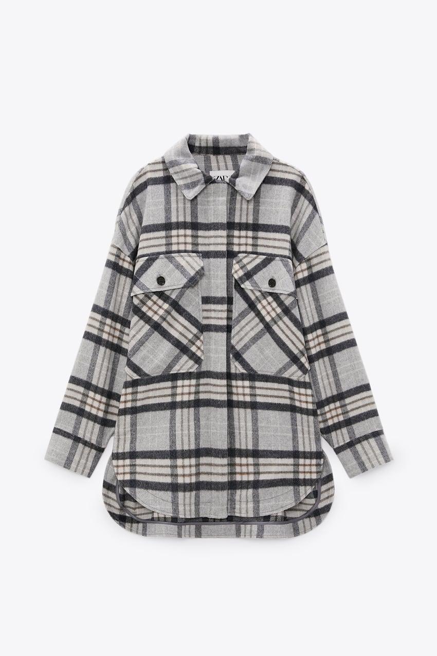 Zara Plaid Overshirt $69.90
