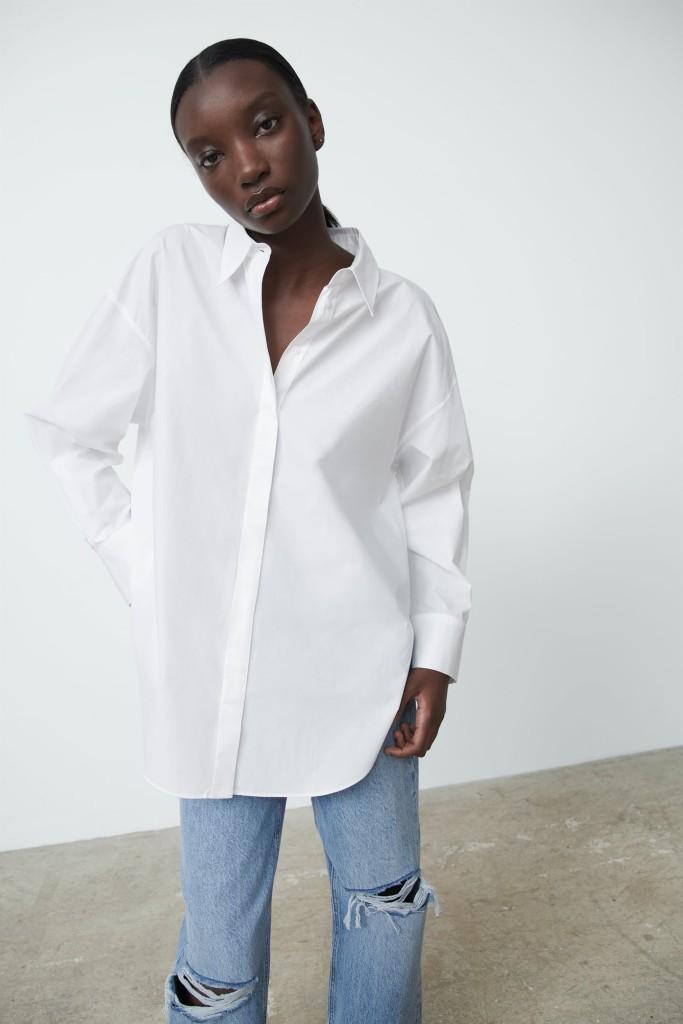 Zara Poplin Skirt $39.90