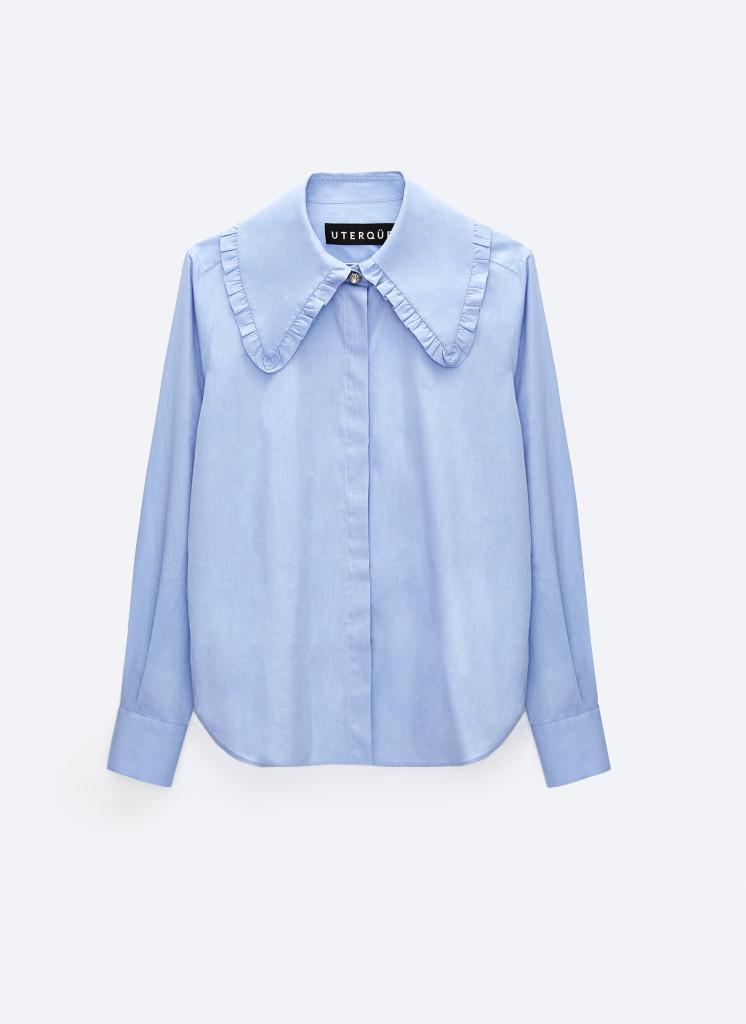 Uterque Shirt with Peter Pan Collar $90.00