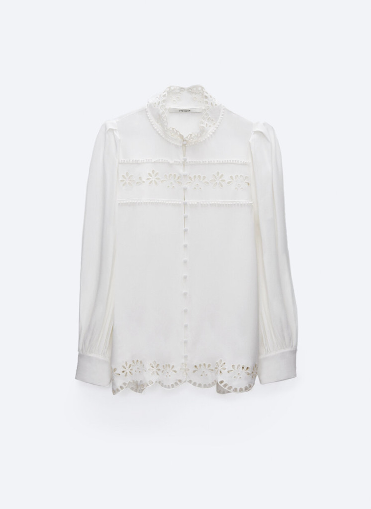 Uterque Embroidered Floral Shirt $112.00
