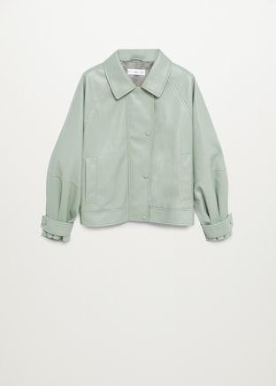 Mango Puffed Leather-Effect Jacket $99.99