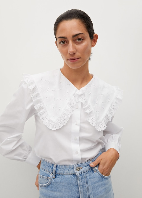 Mango Double Baby-Collar Shirt $59.99
