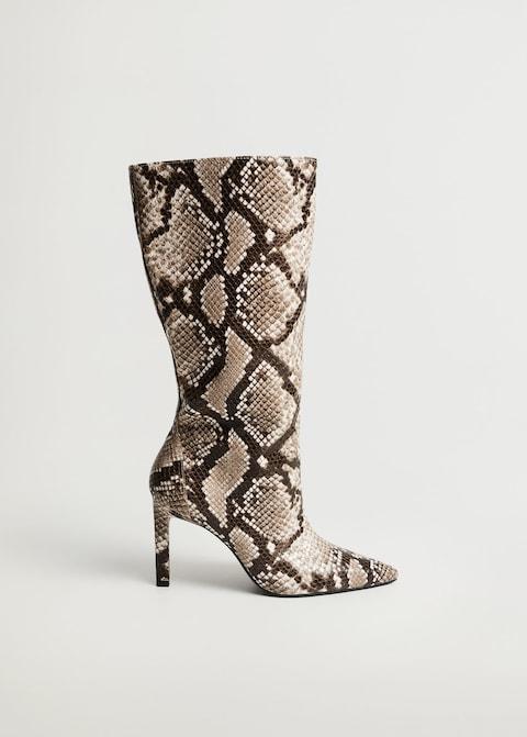 Mango Heel Snake-effect Boots $59.99