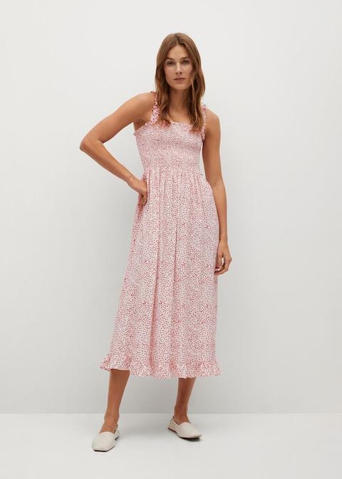 Mango Polka-dot Strap Dress $79.99