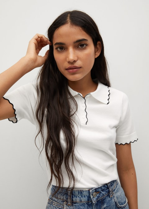 Mango Knit Polo Shirt $39.99