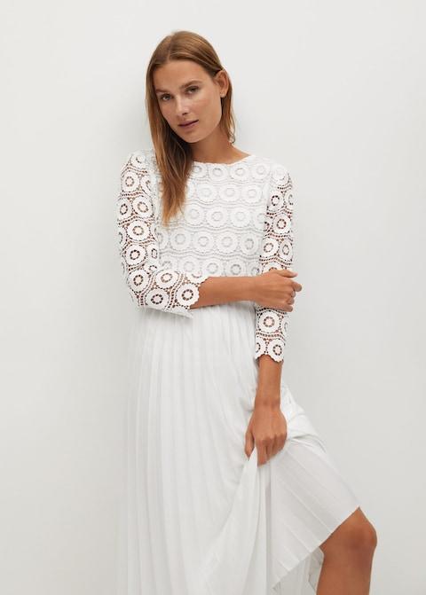 Mango Guipure Midi Dress $129.99