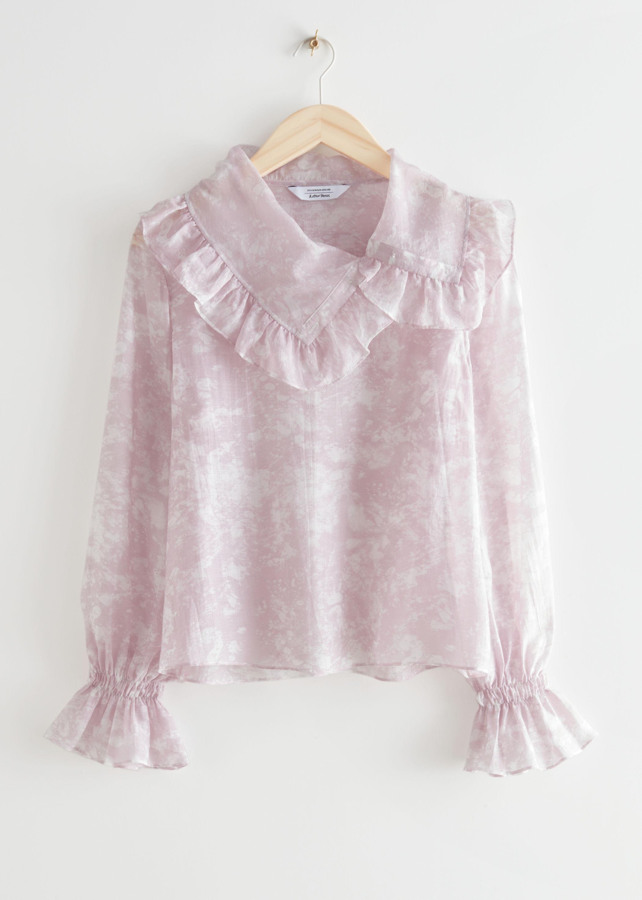 & other Stories Sheer Ruffled Shirt $89.00