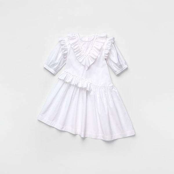 H&M Flounce-trimmed Cotton Dress $59.99