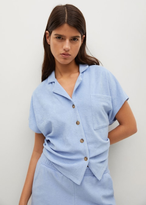 Mango Towel Texture Polo Shirt $39.99
