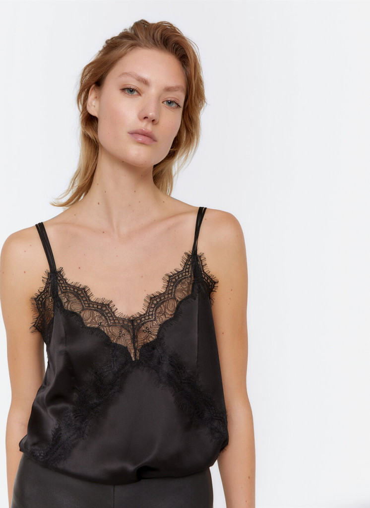 Uterque Black Camisole  $110.00