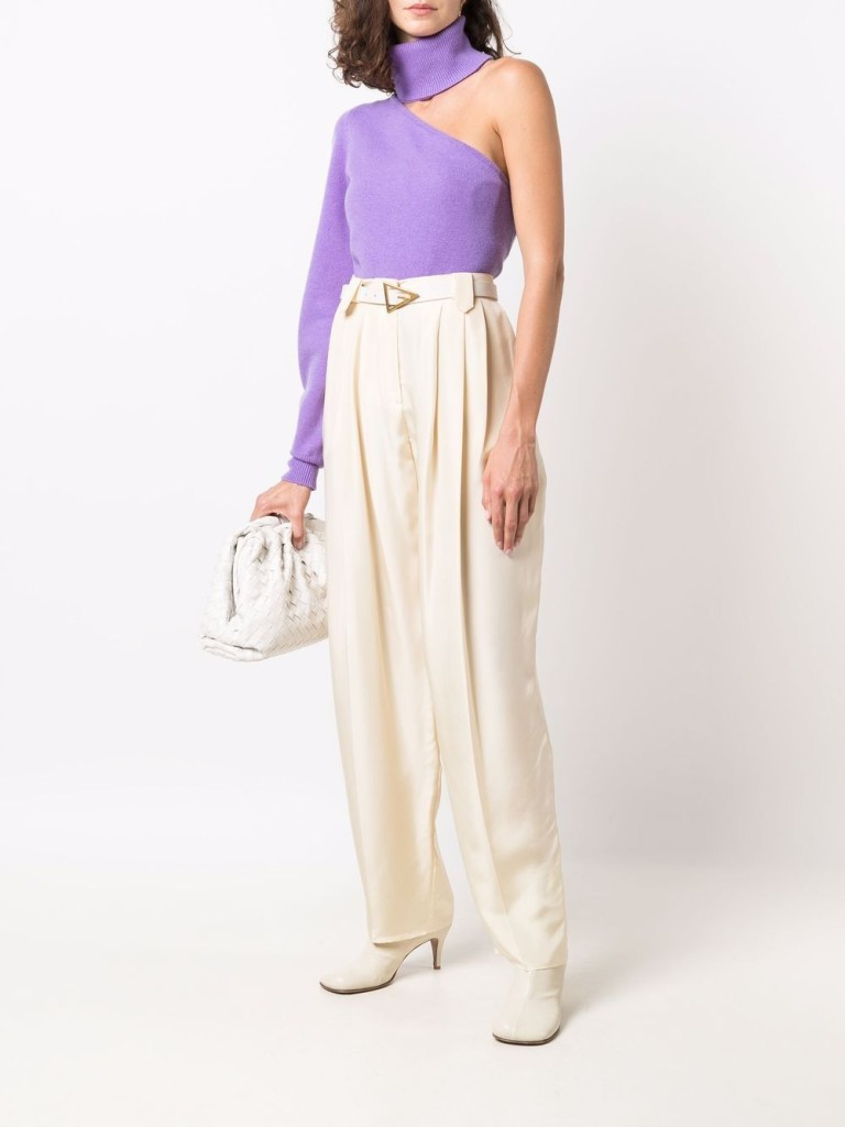 Federica Tosi One-Shoulder Knitted Top $384.00
