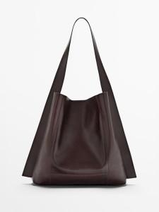 Massimo Dutti Nappa Leather Bag $179.00