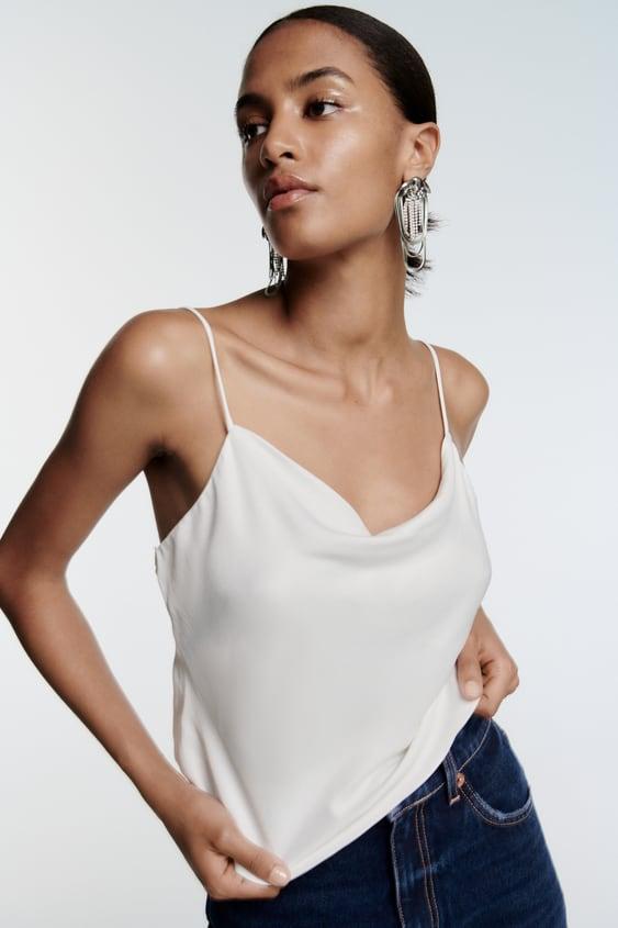 Zara Satin Effect Camisole $35.90