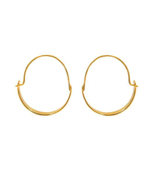 Magnolia Brass Hoops, Handcrafted by a survivor of modern-day slavery by Purpose $24,00