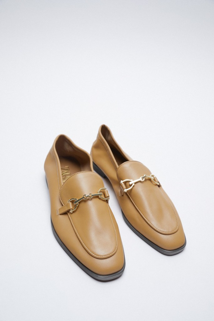 Zara Leather Loafers $69.90